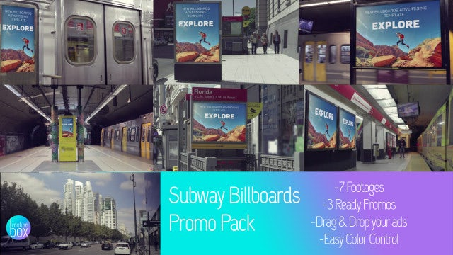 Subway Billboards Mockup Promo Pack: After Effects Templates