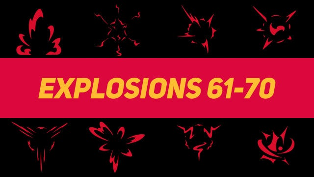 Liquid Elements Explosions 61-70: Motion Graphics Templates