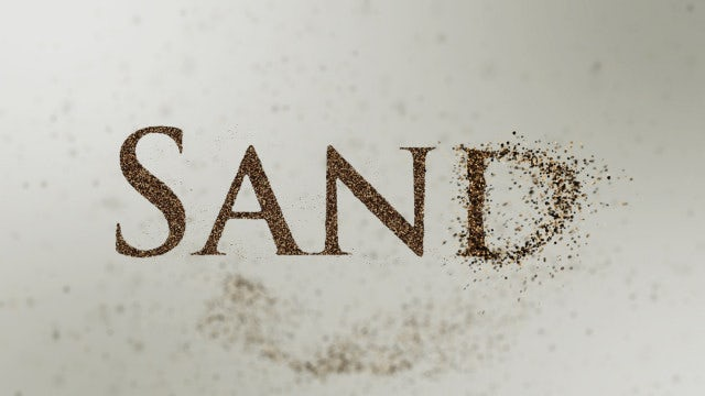 Sand Particles Reveal: After Effects Templates