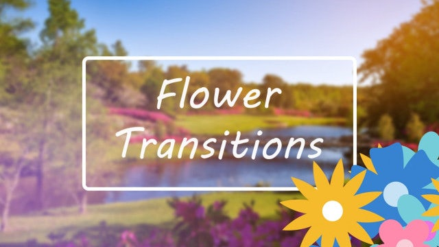 Flower Transitions Pack: Stock Motion Graphics