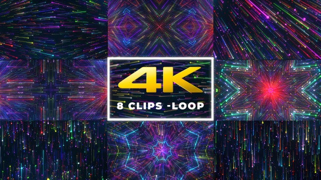 Neon Rays VJ Pack - Stock Motion Graphics   Motion Array