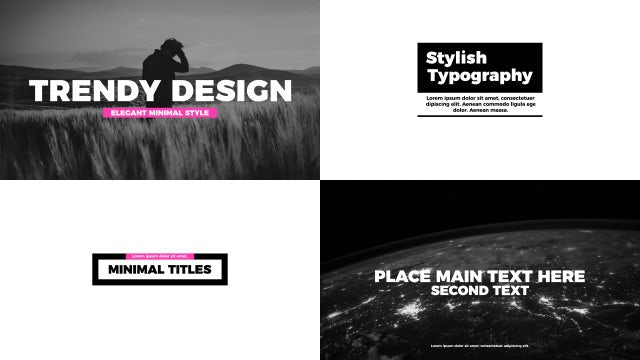 Typography Titles Pack: After Effects Templates