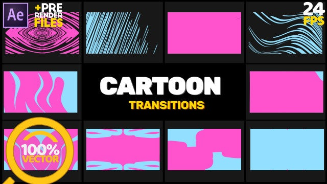 Cartoon Transition 2: After Effects Templates
