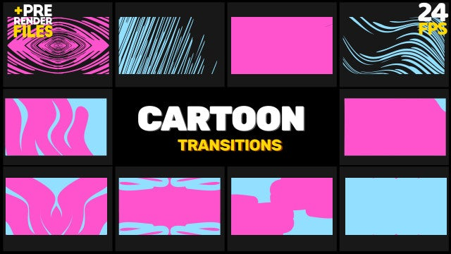Cartoon Transition Pack 2: Stock Motion Graphics