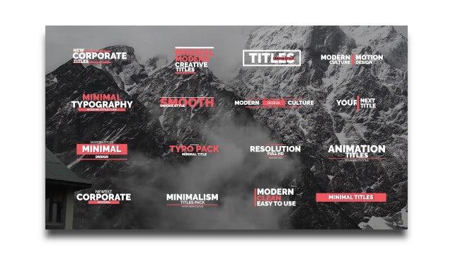 Titles: Premiere Pro Templates