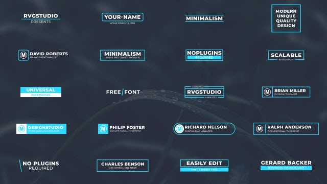 Minimal Titles And Lower Thirds 6: After Effects Templates