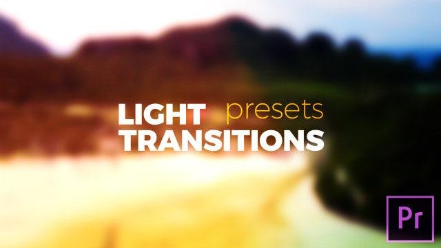 Light Transitions Presets V.6: Premiere Pro Presets