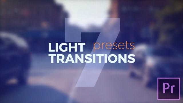 Light Transitions Presets V.7: Premiere Pro Presets