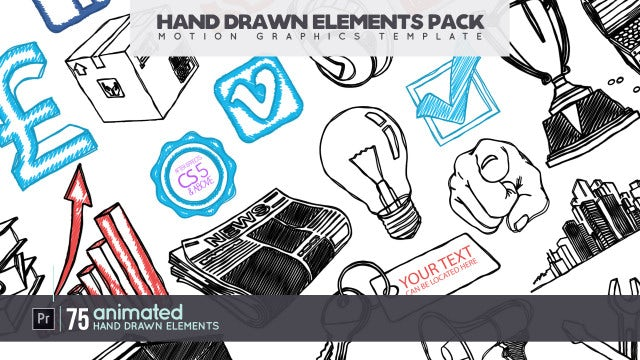 Hand Drawn Elements Pack: Motion Graphics Templates