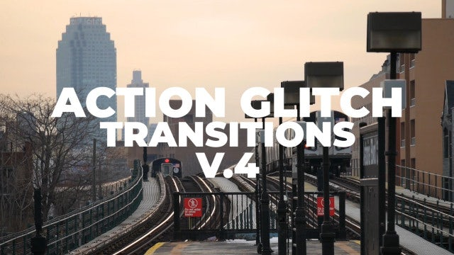 Action Glitch Transitions V.4: Premiere Pro Presets