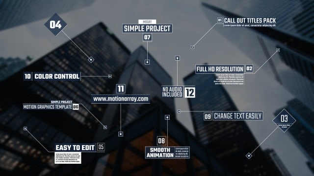 Call Out Titles Pack: Motion Graphics Templates