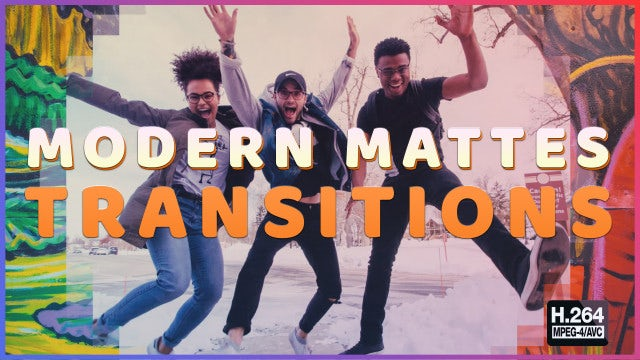 Modern Mattes Transitions: Stock Motion Graphics
