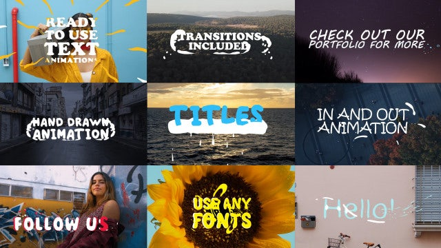 2D Lyric Titles: After Effects Templates
