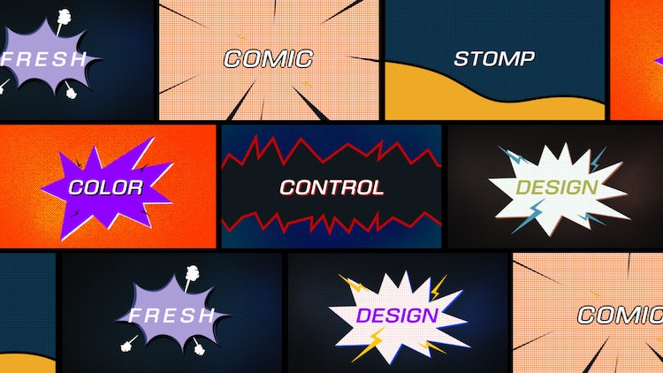 Comic Fast Stomp: After Effects Templates