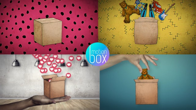 Box - Unboxing Logo Pack: After Effects Templates