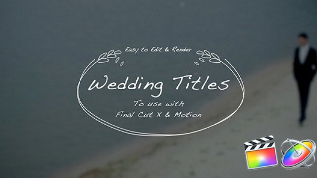 Wedding Hand Drawn Titles: Final Cut Pro Templates