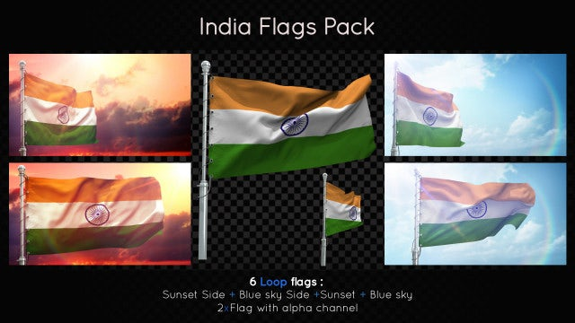 India Flags Pack: Stock Motion Graphics