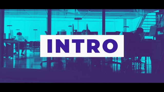 Fast Modern Intro: After Effects Templates