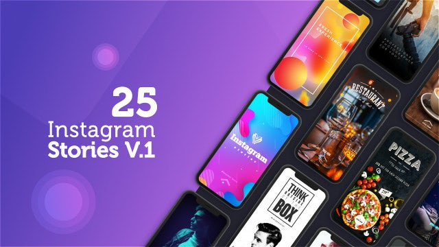 25 Instagram Stories: After Effects Templates