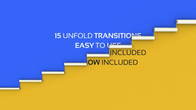 Unfold Transitions: After Effects Templates