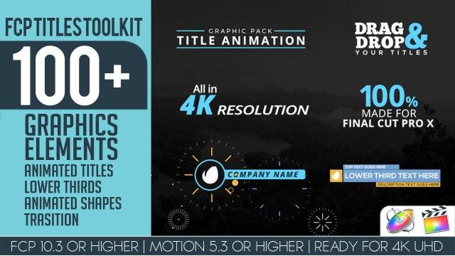 FCP Titles Toollkit: Final Cut Pro Templates