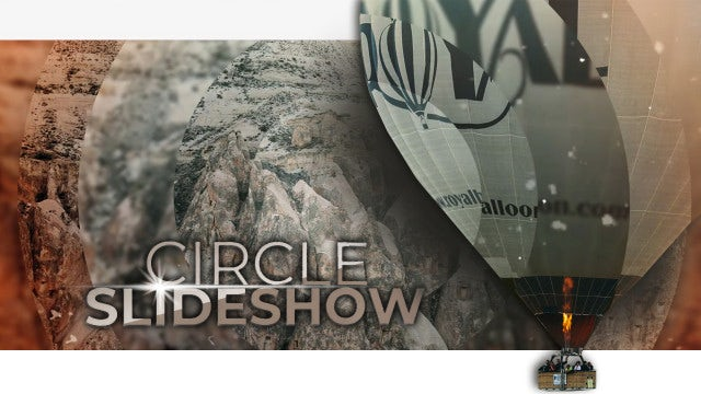 Cinematic Circle Slideshow: After Effects Templates