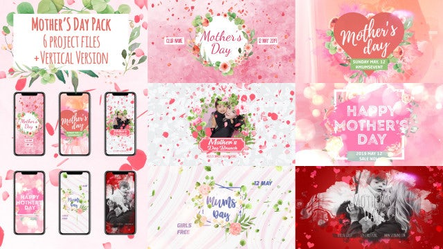 Mother's Day Package: After Effects Templates