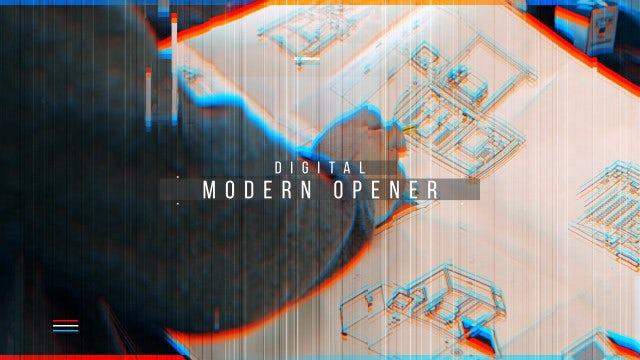 Digital Modern Opener: After Effects Templates