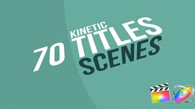 70 Kinetic Titles: Final Cut Pro Templates
