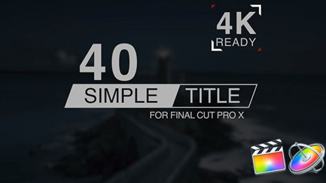 Simple Titles: Final Cut Pro Templates