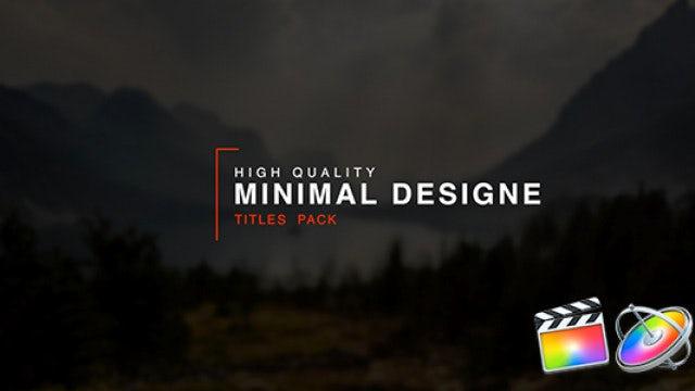 Minimal Titles: Final Cut Pro Templates