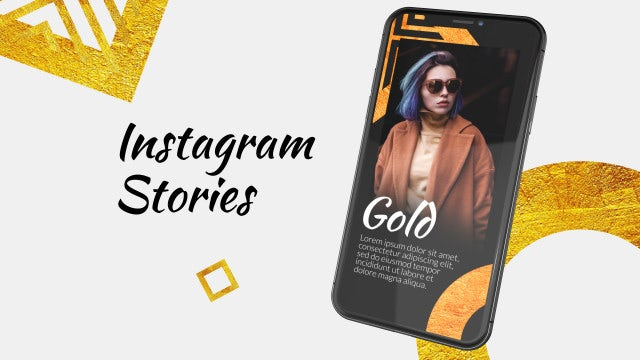 Instagram Stories Gold: After Effects Templates