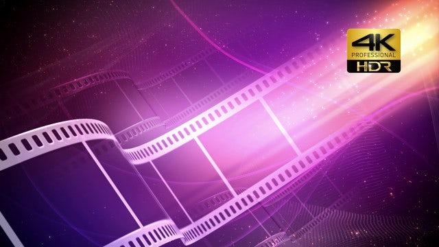 Film Reel 4K: Stock Motion Graphics