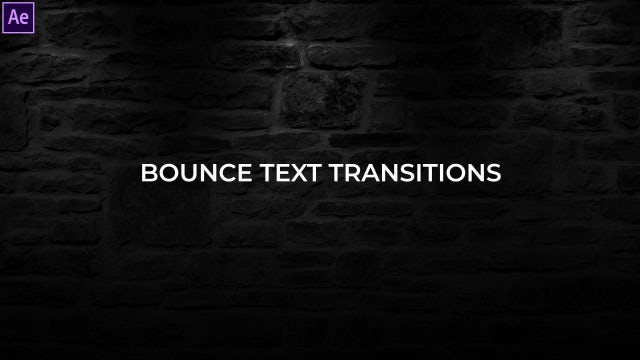 Bounce Text Transitions Presets: After Effects Presets
