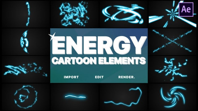Cartoon Energy Elements: After Effects Templates
