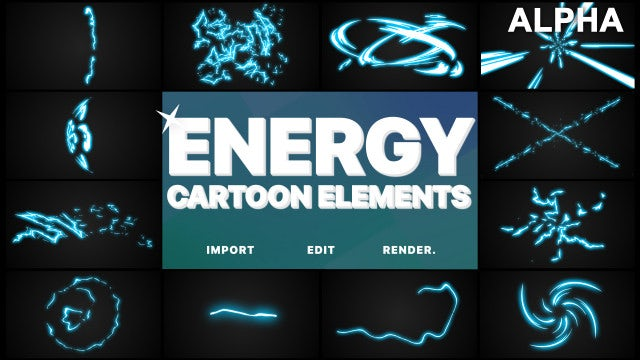 Energy Cartoon Pack: Stock Motion Graphics