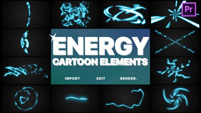 Cartoon Energy Elements: Motion Graphics Templates