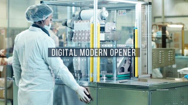 Digital Modern Opener: Premiere Pro Templates