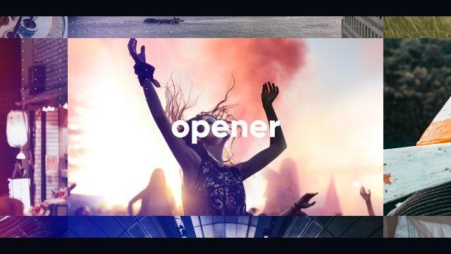 Multiframe Upbeat Opener Slideshow: Premiere Pro Templates