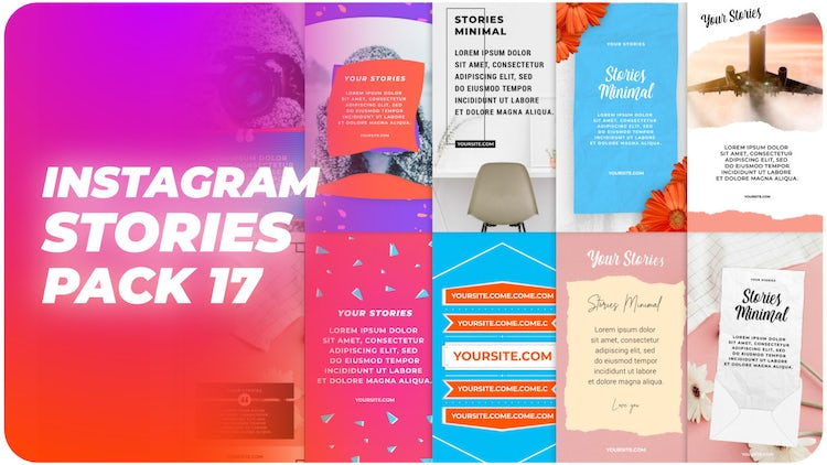 Instagram Stories Pack 17: After Effects Templates