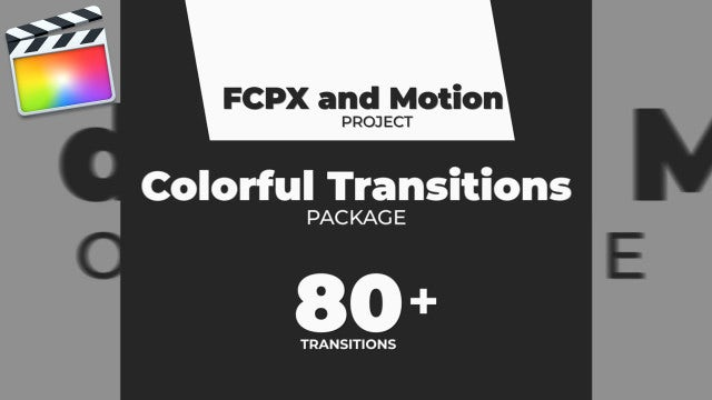 Colorful Transitions Pack: Final Cut Pro Templates