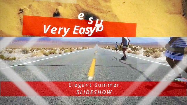 Elegant Summer Slideshow: After Effects Templates