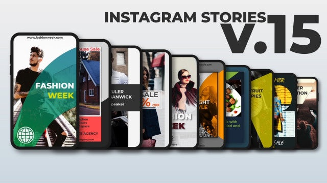 Instagram Stories V.15: After Effects Templates