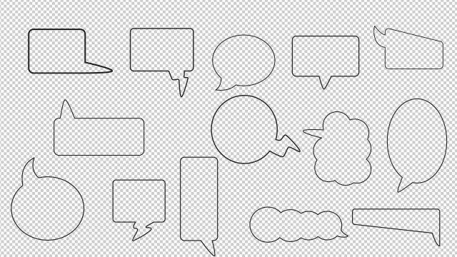 14 Dialogue Bubbles: Motion Graphics Templates