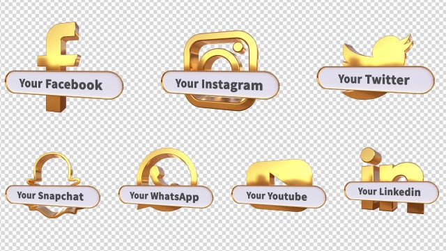 3D Social Media Lower Thirds: Motion Graphics Templates