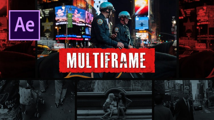 Multiframe Urban Opener: After Effects Templates