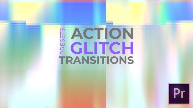 Action Glitch Transitions: Premiere Pro Presets