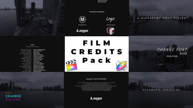Film Credits Pack: Final Cut Pro Templates
