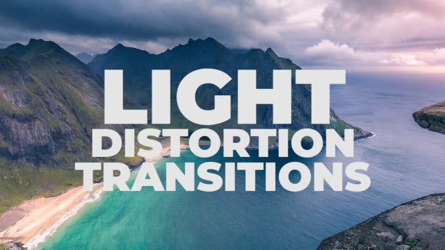 Light Distortion Transitions: Premiere Pro Presets