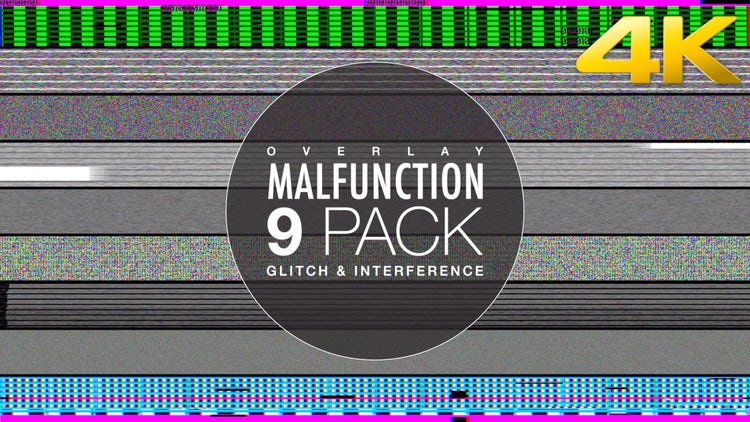 Glitch And Noise Overlay Collection: Stock Motion Graphics